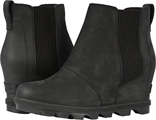 SOREL Women's Joan of Arctic Wedge II Chelsea Boots, Black,