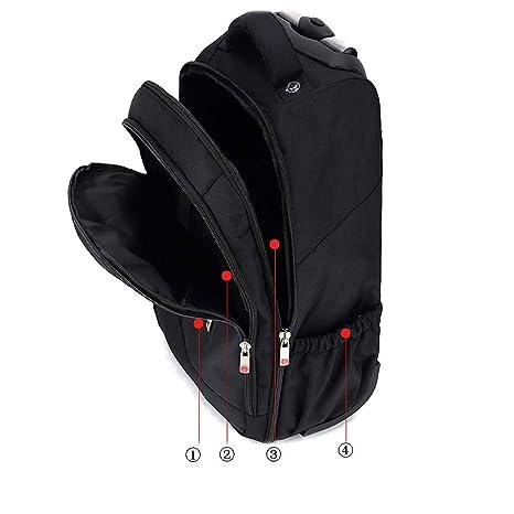 d6ffa8474898 Amazon.com: HONGNA Travel Backpack Four Round Black Multi-function ...
