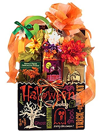 Amazon.com : Gift Basket Village Halloween Gift Basket with Tricks ...