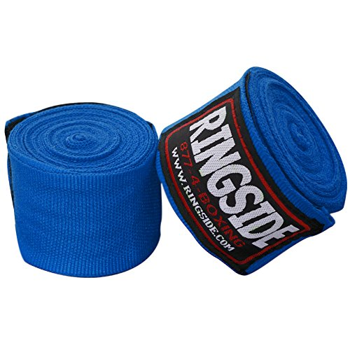 Ringside Mexican-Style Boxing Handwraps, Blue, 180-Inch, Set of 2
