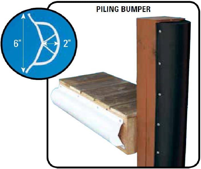 Dock Edge 1020-B-F Piling Bumper One End Capped 6/' Black