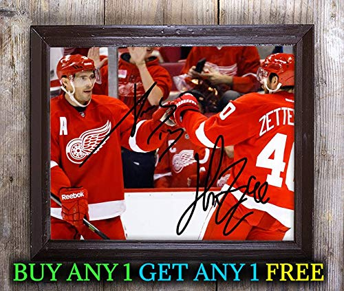 Pavel Datsyuk Henrik Zetterberg Autographed Signed 8x10 Photo Reprint #07 Special Unique Gifts Ideas Him Her Best Friends Birthday Christmas Xmas Valentines Anniversary Fathers Mothers Day (Signed Datsyuk)
