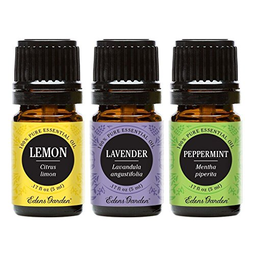 Edens Garden Lavender, Lemon & Peppermint Essential Oil, 100% Pure Therapeutic Grade (Highest Quality Aromatherapy Oils), 5 ml Value Pack by Edens Garden