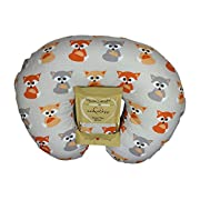 Nursing Pillow Slipcover Baby Gray Foxes Design Maternity Breastfeeding Newborn Infant Feeding Cushion Cover Case Baby Shower Gift for New Moms