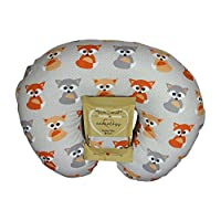 Nursing Pillow Slipcover Baby Gray Foxes Design Maternity Breastfeeding Newbo...