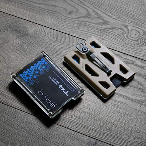 730ee93b41667 GOVO Badge Holder Wallet - Durable ID Card Holder with Metal Clip and 4  Cards
