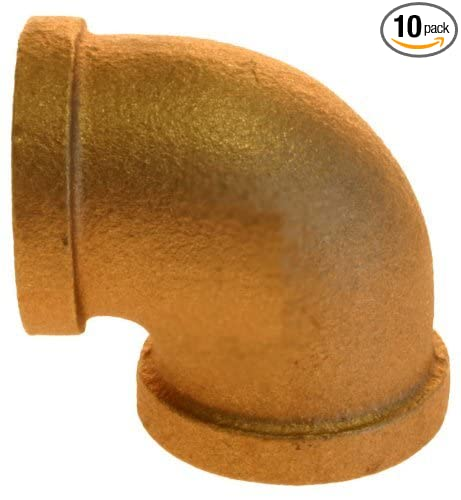 Plumbers Choice 90031 1//4-Inch Brass Fitting with 90-Degree Elbow 10-Pack