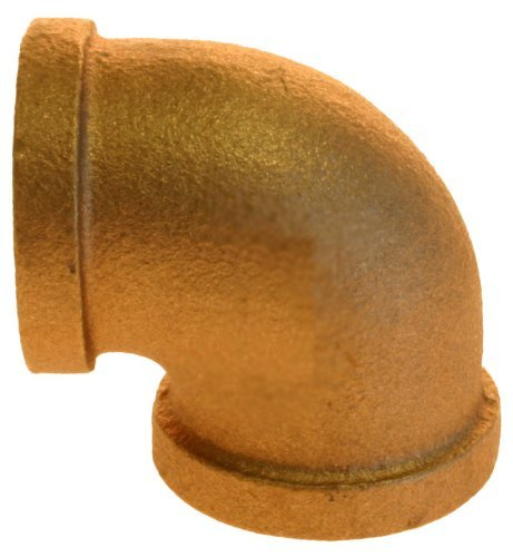 Plumbers Choice 90037 1-1//4-Inch Brass 90-Degree Elbow