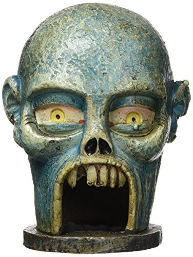 Image of Penn Plax Zombie Skull Hideaway Ornament