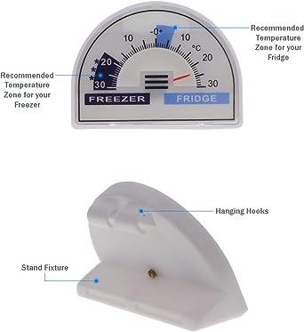 Paquete de 2 termómetros para frigorífico y congelador con zonas ...