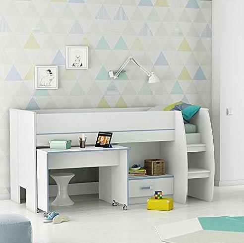 Sofabett für jugendzimmer  Jugenbett Kinderbett Bett Bettliege Sofabett Schreibtisch ...