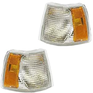 1993-1997 Volvo 850 Park Corner Light Turn Signal Marker Lamp (with dual bulb socket type) Set Pair Right Passenger AND Left Driver Side (1993 93 1994 94 1995 95 1996 96 1997 97)
