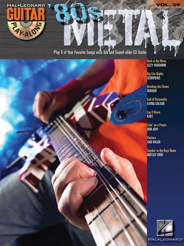 GUITAR PLAY ALONG VOLUME 39 80S METAL GUITAR TAB BK/CD (Book & CD) by Various (17-Mar-2011) Paperback