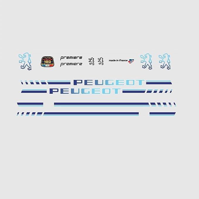Peugeot Premiere adhesivo de vinilo para bicicleta azul - juego de ...