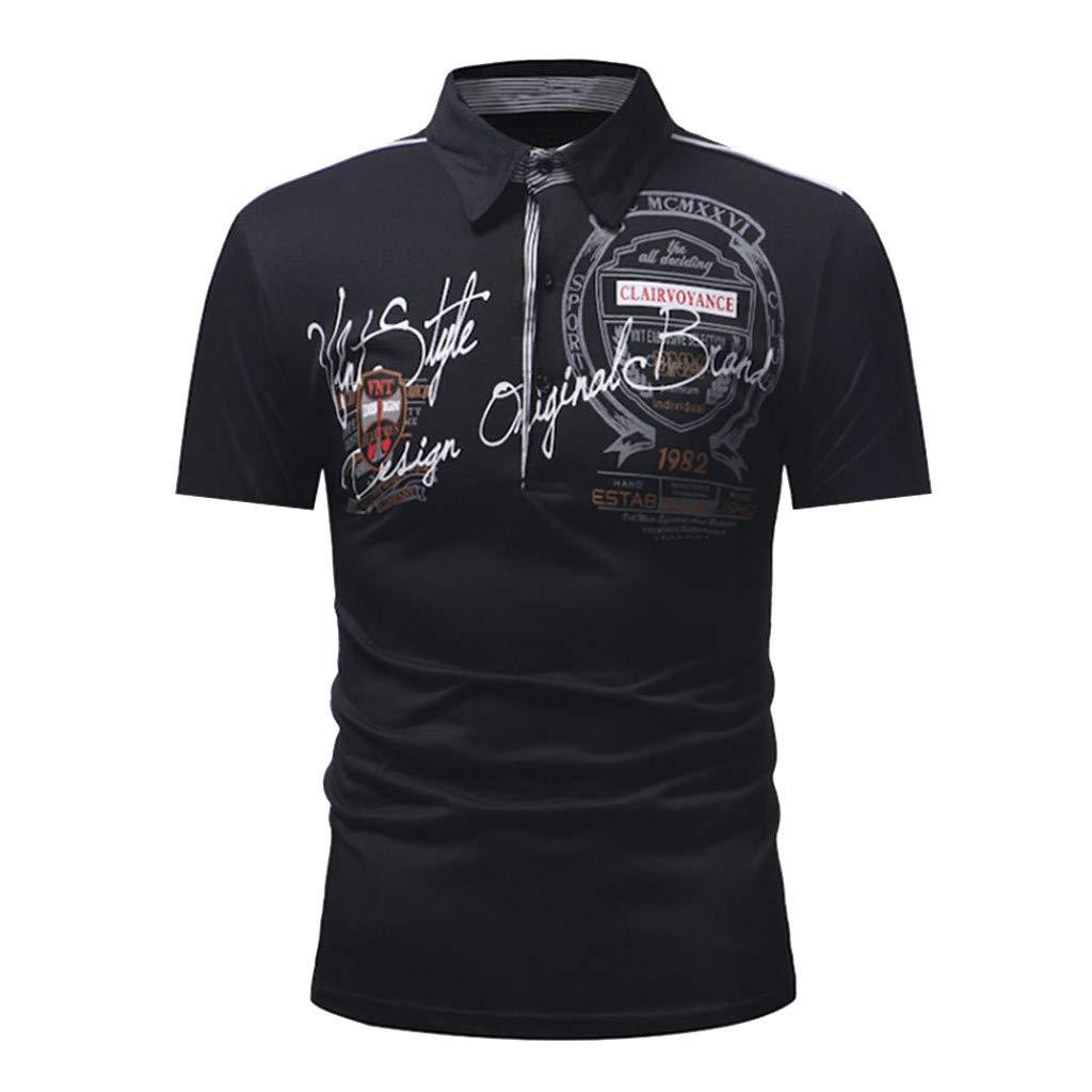 Celucke Polohemd Besticken Poloshirt Herren Mit Coole Print M/änner T-Shirt Kurzarm Polo Hemd Basic Shirt Freizeit Polohemden Kurzarmhemd Herrenhemden Sweatshirt Kurzarmshirt