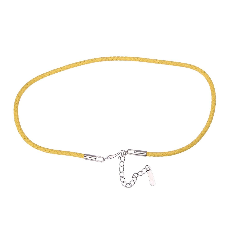 EOZY 5 Stück Süß Schmal Gürtel Damen für Kleider/Hemd Länge:75cm (#8 Gelb)