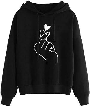 Amazon.com: ZJSWCP Sweatshirt Womens Musical Notes Long ...