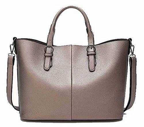 Moolarmi Women Zipper Fashion Pu Crossbody Bags Studded Tote Bags, INEBH158840, Metallic