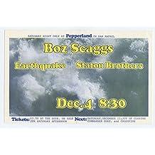 Boz Scaggs Earthquake Staton Brothers 1971 Dec 4 Pepperland Handbill