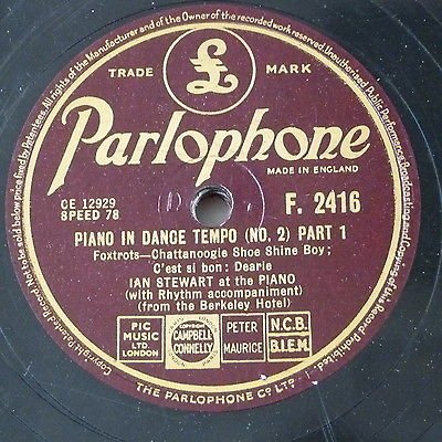 78rpm IAN STEWART piano in dance tempo no.2 - from the berkeley hotel