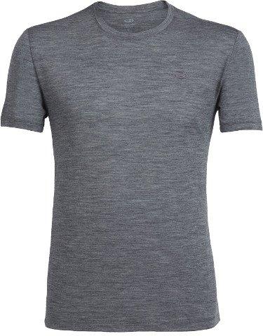 Icebreaker Men's Tech Lite Short Sleeve Crewe Shirt, Gritstone Heather/Gritstone Heather, Large