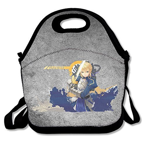 Bakeiy Fate Zero Poster Lunch Tote Bag Lunch Box Neoprene Tote For Kids And Adults For Travel And Picnic School