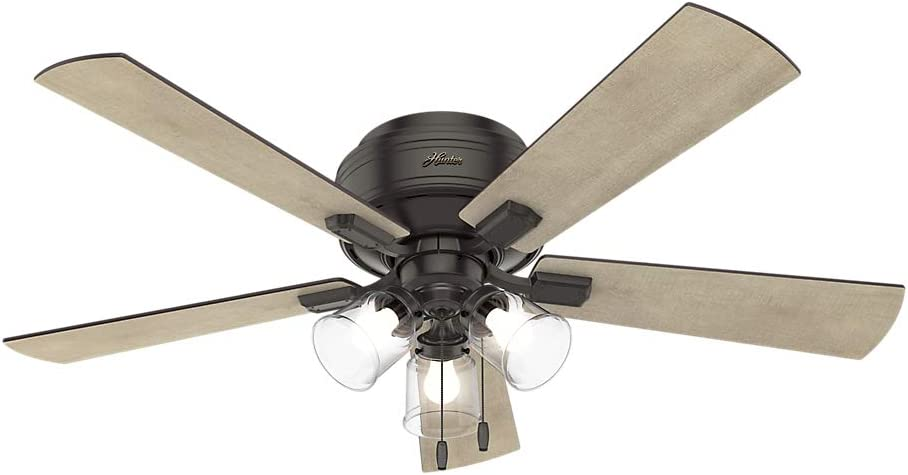 Hunter Fan Company Hunter 54208 Transitional 52``Ceiling Fan from Crestfield collection Dark finish, Noble Bronze