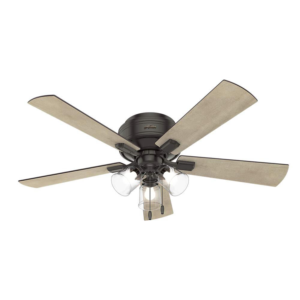 Hunter Fan Company 54208 Hunter 52'' Crestfield Noble Bronze LED Light Ceiling Fan,