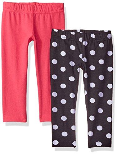 Gerber Graduates Girls' 2 Pack Leggings, Polka Dot/Pink,