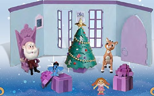 (Forever Fun Rudolph the Red-Nosed Reindeer Santa's Castle Hall Diorama 2015 PVC Figurine Set)
