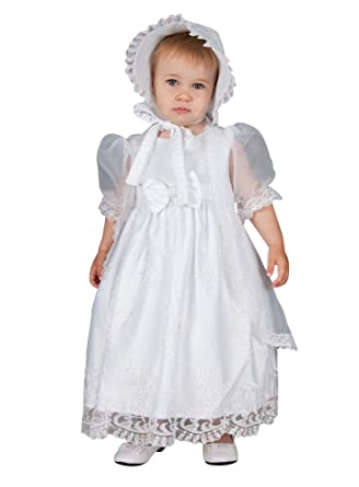 Boutique-Magique Robe de baptême bébé Fille + Cape + Bonnet Tenue bébé  Blanche c32dff9c787