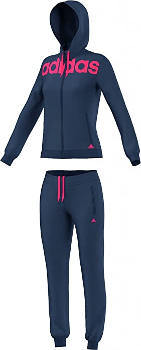 adidas ESS Linear COTT - Chándal para Mujer, Color Azul Marino ...