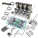 FidgetGear for Mitsubishi 4D34T 3.9L Engine Rebuild Kit for Fuso Canter FE FG Trucks Excavator