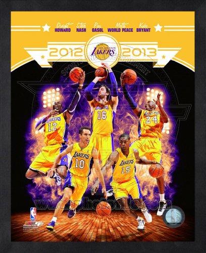 2012 Team Framed Photo - Los Angeles Lakers 2012-2013 Framed NBA Team Composite Photo 16x20