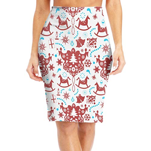 Christmas Decoration Wallpaper Stylish Bodycon Pencil Skirt Work Mini Skirt Barrel Tight Dress ()