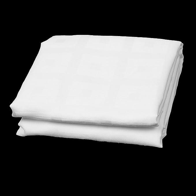 Amazon.com: eDealMax NIOBOMO autorizado Mezclas de algodón a Cuadros dormitorio Diseño Retangular almohadilla en Forma de caja DE 76 x 51 x 2 cm Blanca: ...