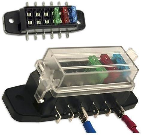 amazon.com: auxiliary automotive fuse box holder - add 6 fused circuits for  stereo, amp, gps - taiwan: home improvement  amazon.com