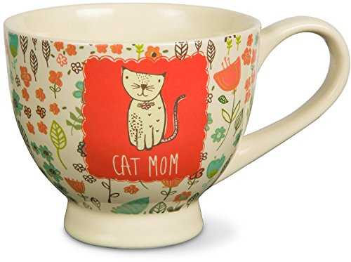 pavilion-gift-company-54007-a-mothers-love-cat-mom-floral-soup-bowl-mug-red-17-oz