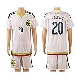 2015/16 Mexico White (Away) #20 Jesus Duenas Football Soccer Kids Jersey & Shorts