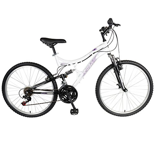 Mantis Orchid Full Suspension Mountain Bike, 26 inch Wheels, 17 inch Frame, Women's Bike, Pearl/Purple Bicycle Full Suspension Frames
