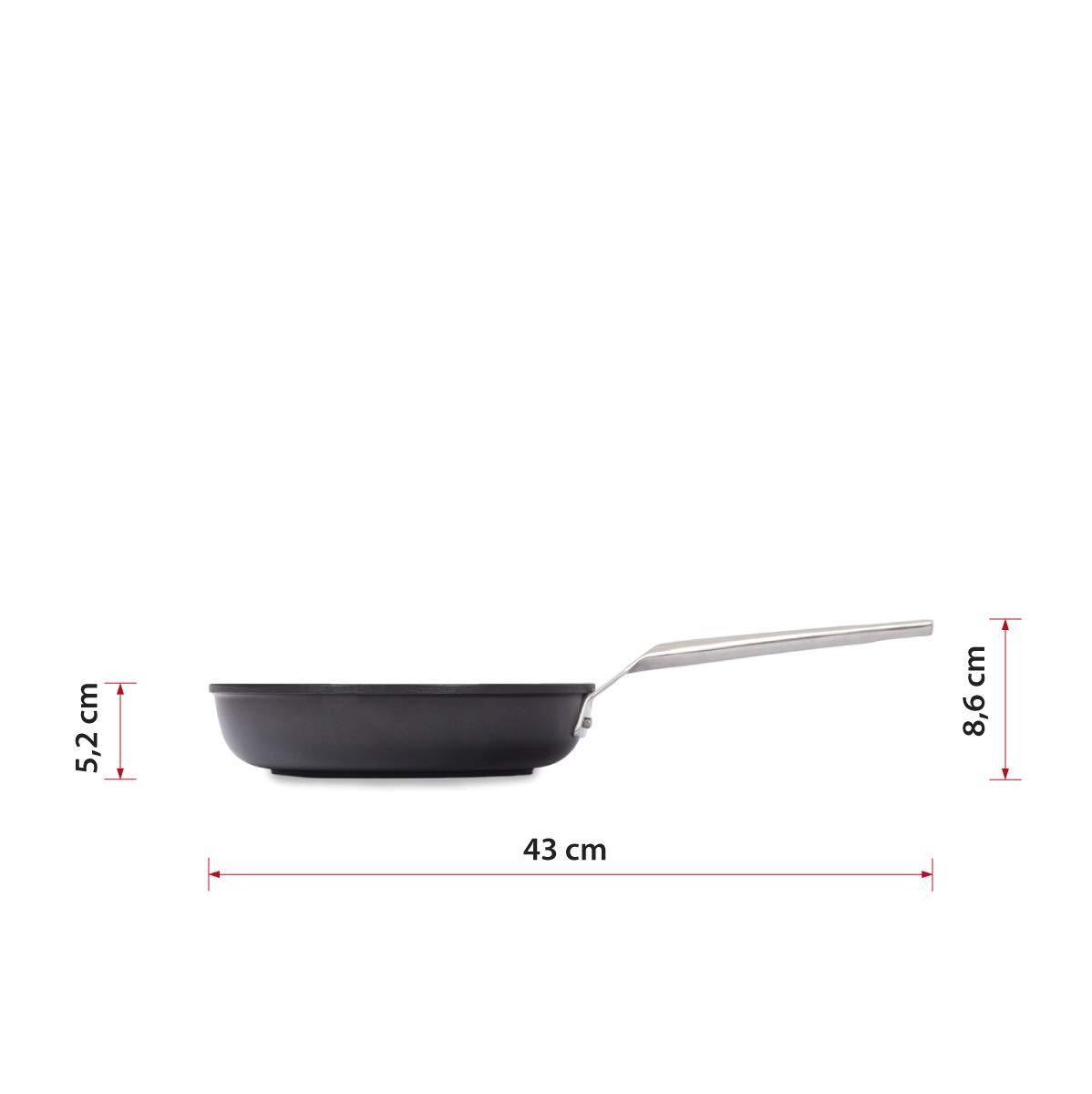 Valira Sarten Aluminio Ø 22 Aire, Acero, Negro, 22 cm
