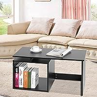 Tavoli da Salotto Moderni con Legno Tavolino da Caffe Ripiano di ...