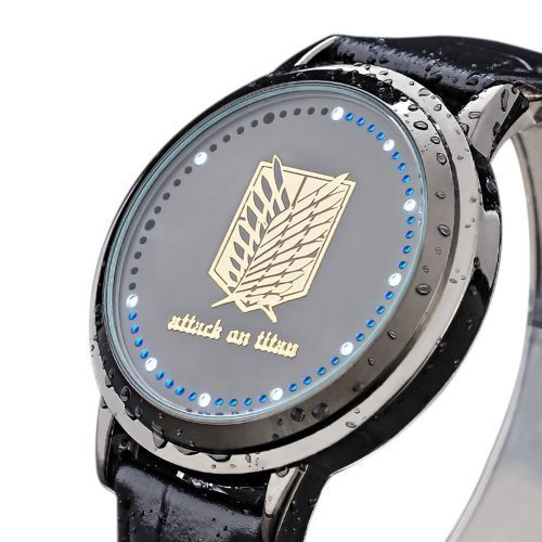 Wildforlife Anime Attack on Titan Scouting Legion Touch Screen LED Digital Wrist Watch by Xingyunshi