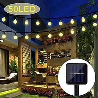 Garden Solar Lights, 50 LED Outdoor String Lights Garden Crystal Ball Decorative Lights 24Ft Waterproof Indoor Outdoor Fairy Lights for Garden, Patio, Yard, Christmas