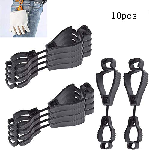 10x black Glove Grabber Clip Holder Guard Work Safety Clip Glove Keeper