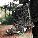 WOJIAO Outillage Tactique pour Hommes Bottes Militaires Quatre Saisons imperméable Antidérapant Chaussures pour Hommes… 12