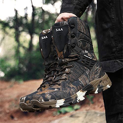 WOJIAO Outillage Tactique pour Hommes Bottes Militaires Quatre Saisons imperméable Antidérapant Chaussures pour Hommes… 5