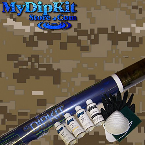 Desert Digital Camouflage Hydrographics Kit MyDipKit - MC-821 - My Dip Kit by MyDipKitStore