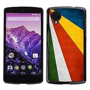 Shell-Star ( National Flag Series-Seychelles ) Snap On Hard Protective Case For LG Google NEXUS 5 / E980 by icecream design
