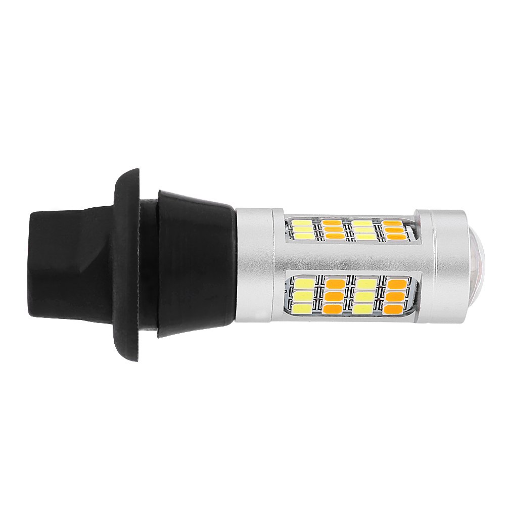 Terisass 1 Pair Turn Signal Light DRL Car Daytime Running Light 42pcs 2835 SMD LED per Lamp 12V 21W LED Side Marker Indicator Light 6000K Dual Model Auto Driving Brake Light White + Amber